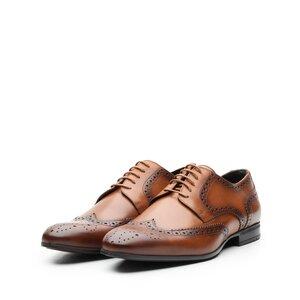 Pantofi barbati eleganti din piele naturala Leofex- 1023 Cognac Box