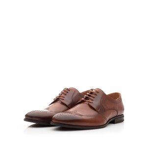 Pantofi barbati eleganti din piele naturala,Leofex - 583 Cognac Box