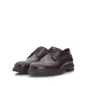 Pantofi casual barbati Brogue din piele naturala ,Leofex- 980-2 Maro x Box