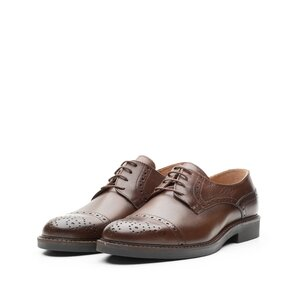 Pantofi casual barbati din piele naturala Leofex -  537-1 red wood box