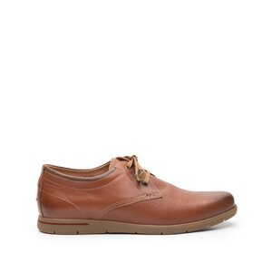 Pantofi casual barbati din piele naturala, Leofex- 787-1 camel box