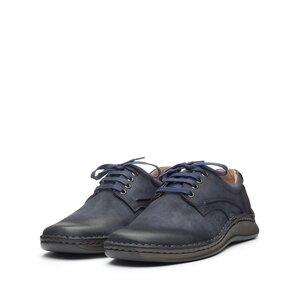 Pantofi casual barbati din piele naturala,Leofex - 918 Blue Nabuc