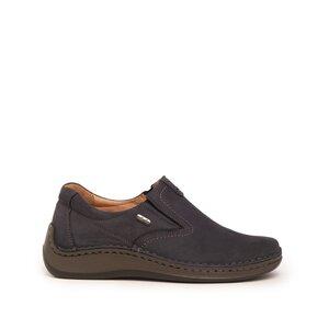 Pantofi casual barbati din piele naturala, Leofex - 919 Blue Nabuc