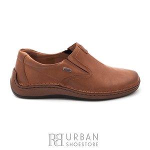 Pantofi casual barbati din piele naturala, Leofex - 919 cognac box