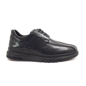 Pantofi casual barbati din piele naturala, Leofex - Mostra Alfredo negru box