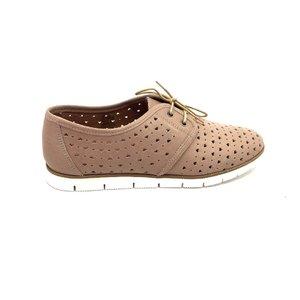 Pantofi casual dama din piele naturala - 406-1 Taupe Box