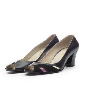 Pantofi casual  dama din piele naturala - 438 negru