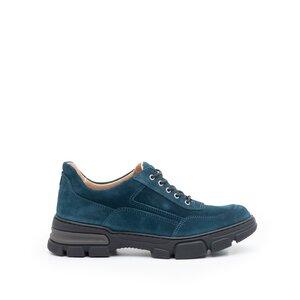 Pantofi casual dama din piele naturala, Leofex - 283 Avio velur
