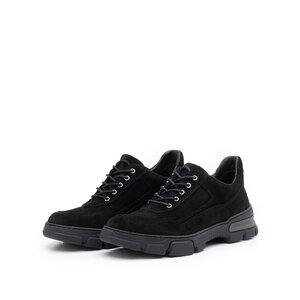 Pantofi casual dama din piele naturala, Leofex - 283 Negru velur