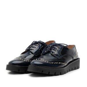 Pantofi casual dama din piele naturala,Leofex - 096 blue  florantic
