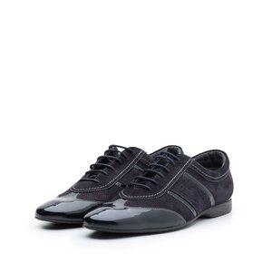 Pantofi casual din piele naturala,Leofex - 125 Blue Lac Velur