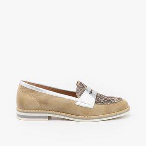 Pantofi dama casual din piele naturala - 031 Bej box