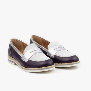 Pantofi dama casual din piele naturala - 031 Mov box