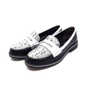 Pantofi casual dama din piele naturala, Leofex- 188 Negru Box