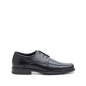 Pantofi eleganti barbati din piele naturala cu varf patrat, Leofex - 608 negru