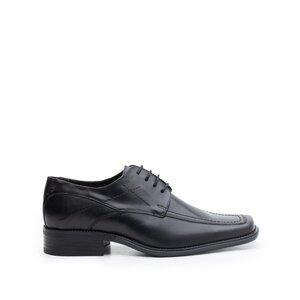 Pantofi eleganti barbati din piele naturala ,Leofex - 107 negru box