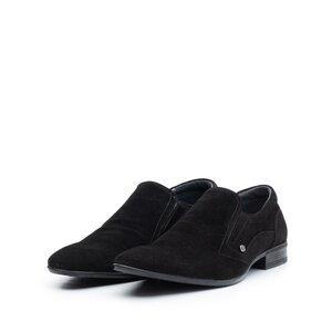 Pantofi eleganti barbati din piele naturala,Leofex - 109-3 Negru Velur