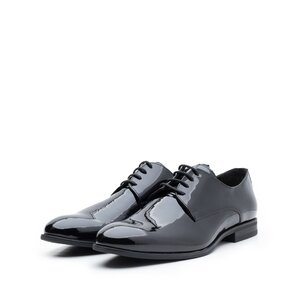 Pantofi eleganti barbati din piele naturala, Leofex - 112-2 negru lac