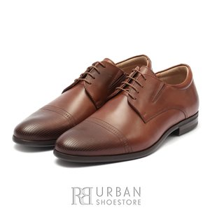 Pantofi eleganti barbati din piele naturala, Leofex - 522 Cognac box