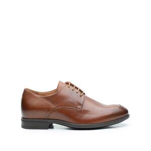 Pantofi eleganti barbati din piele naturala,Leofex - 577 Cognac Box