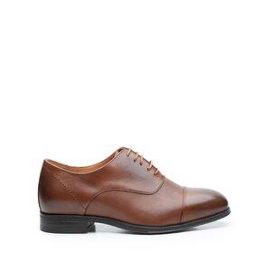 Pantofi eleganti barbati din piele naturala, Leofex - 579 Cognac Box