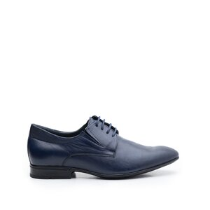Pantofi eleganti barbati din piele naturala ,Leofex - 792 blue box indigo