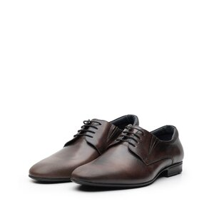 Pantofi eleganti barbati din piele naturala, Leofex - 792 maro box periat