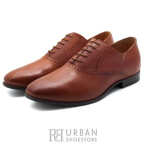 Pantofi eleganti barbati din piele naturala,Leofex - 825 Cognac Box