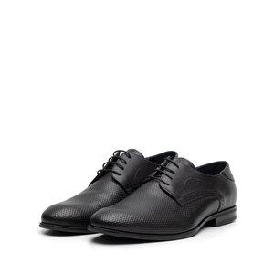 Pantofi eleganti barbati din piele naturala,Leofex - 887 negru box
