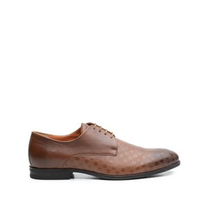 Pantofi eleganti barbati din piele naturala Leofex- 897 cognac