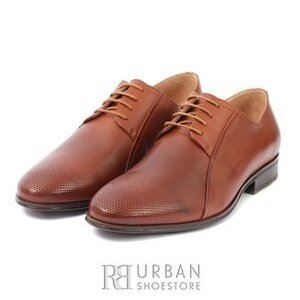 Pantofi eleganti copii din piele naturala,Leofex - 743 C Cognac Box