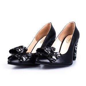 Pantofi eleganti dama din piele naturala - 06 Negru box
