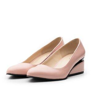 Pantofi eleganti dama din piele naturala - 2161 Roz pudra box