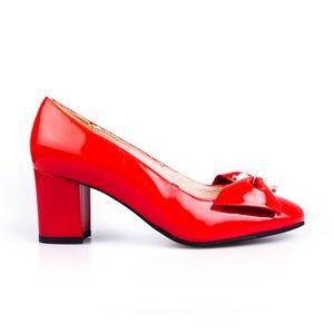 Pantofi eleganti dama din piele naturala - 450 rosu lac