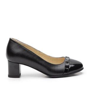 Pantofi eleganti dama din piele naturala  - 764 negru lac