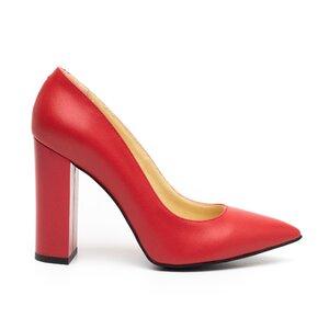Pantofi eleganti dama din piele naturala, Leofex - 871 Rosu box