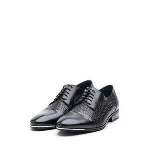 Pantofi barbati eleganti din piele naturala Leofex - 820-1 negru