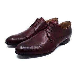 Pantofi eleganti din piele naturala - 896  Visiniu