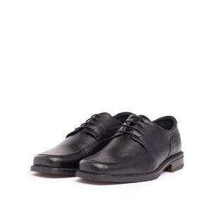Pantofi eleganti din piele naturala cu varf patrat - 124 negru box