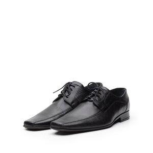 Pantofi eleganti din piele naturala cu varf patrat - 410 negru