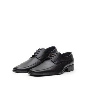 Pantofi eleganti din piele naturala cu varf patrat, Leofex - Mostra Carl 2 negru box