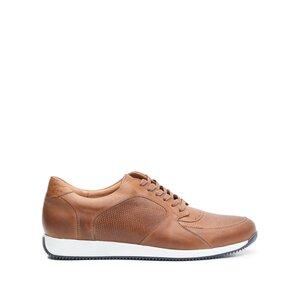 Pantofi sport barbati din piele naturala Leofex- 519 Cognac box