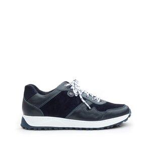 Pantofi sport barbati din piele naturala, Leofex - 670 Blue Box Velur