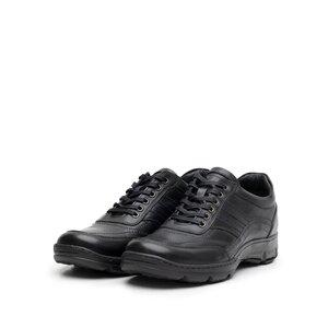 Pantofi casual barbati din piele naturala, Leofex - 131 negru box