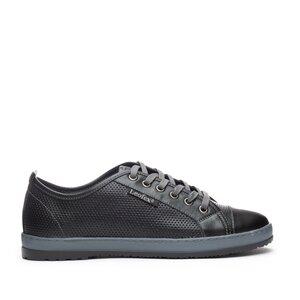 Pantofi sport dama din piele naturala, Leofex- 047-2 Negru box