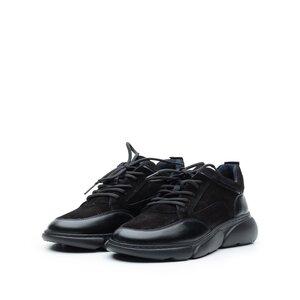 Pantofi sport dama din piele naturala, Leofex - 238 Negru box+velur