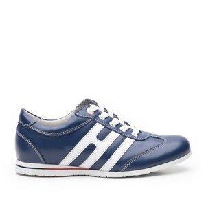 Pantofi sport dama din piele naturala, Leofex- 552-1 blue+alb box