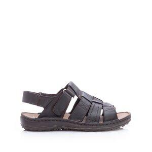 Sandale barbati din piele naturala, Leofex - 144 Maro inchis box