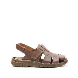 Sandale barbati din piele naturala Leofex - 324 Maro