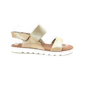 Sandale cu talpa joasa dama din piele naturala,Leofex - 256-1 Auriu